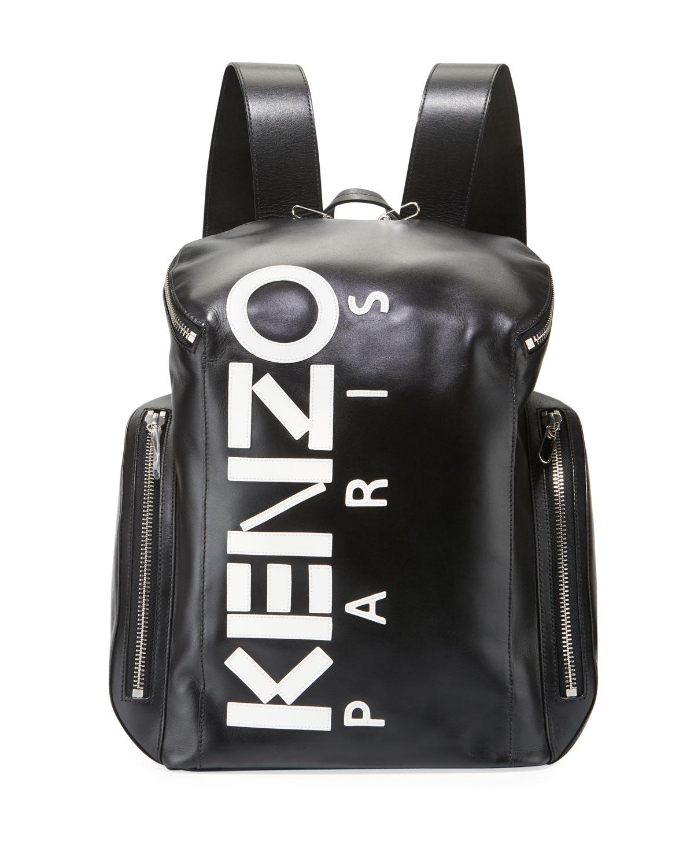ba74811765 Kenzo Men's Logo Leather Backpack | Neiman Marcus