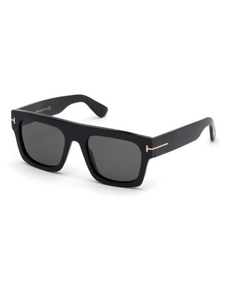 TOM FORD Men's Fausto Thick Plastic Sunglasses