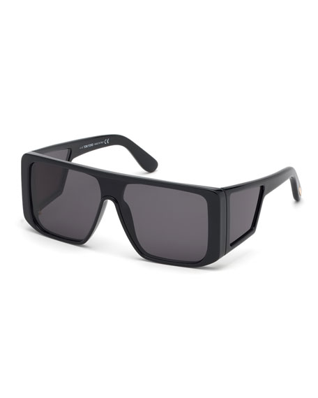 TOM FORD Men's Atticus Wide Plastic Sunglasses