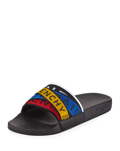 Men's Logo Band Pool Slide Sandals