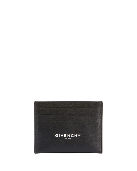 Givenchy Men's Logo-Front Leather Card Case