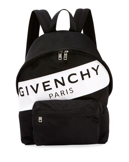 Givenchy Men's Urban Logo Nylon Zip-Around Backpack