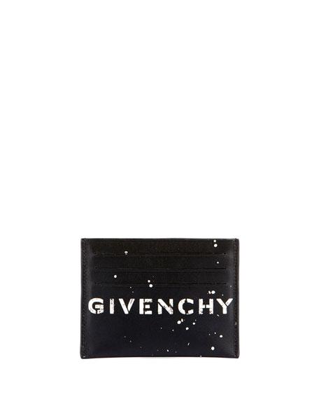 Givenchy Men's Logo-Print Leather Card Holder
