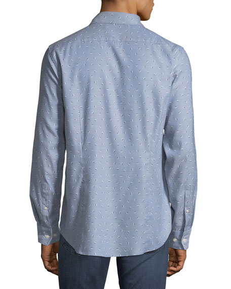 Michael Kors Men's Pinpoint-Print Sport Shirt