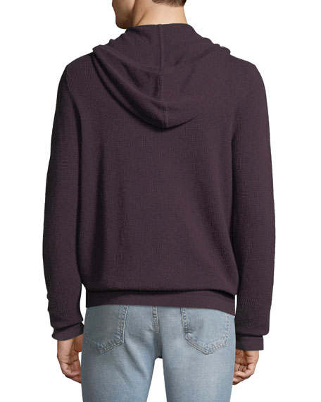 Michael Kors Men's Moulinex Waffle-Knit Zip-Front Hoodie