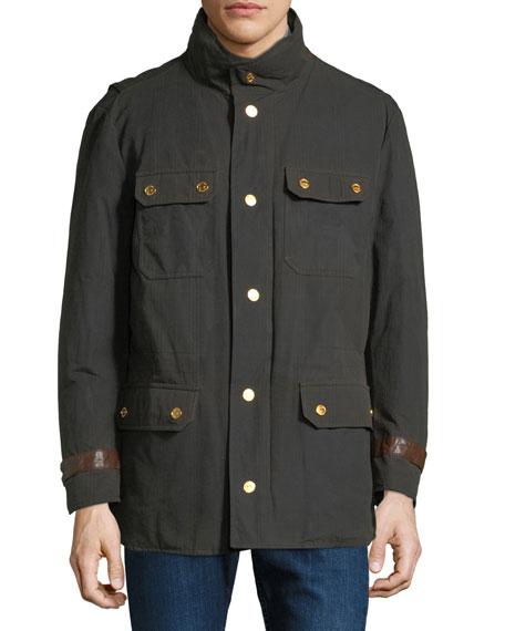 Stefano Ricci Men's Waxed Cotton Gilet Jacket
