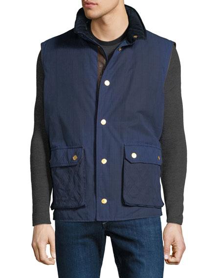 Stefano Ricci Men's Waxed Cotton Sport Gilet Vest