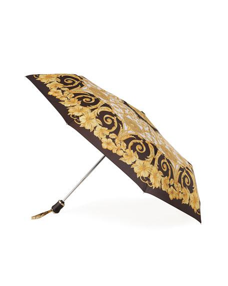 Versace Packable Signature Print Umbrella