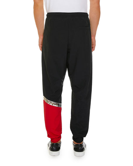 Marcelo Burlon Men's County Logo Multicolor Pants