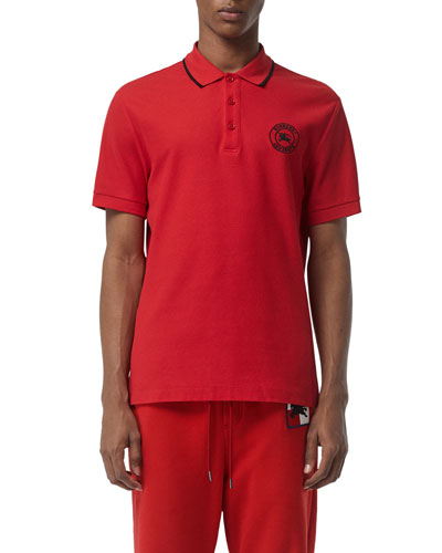Men's Moreton Contrast-Tip Polo Shirt
