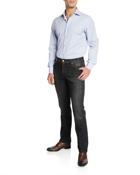 Kiton Men's Washed Denim Jeans