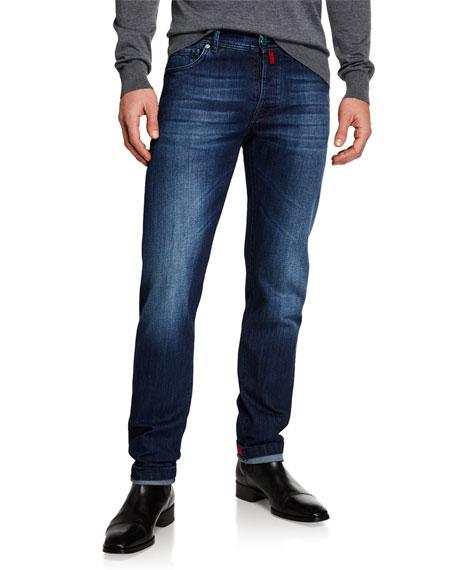 Kiton Men's Slim Fit Medium Wash Denim Jeans