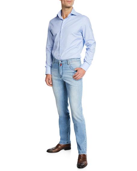 Kiton Men's Five-Pocket Denim Jeans