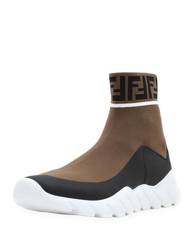 Men's Fendi Mania Reloaded FF Sock Sneakers