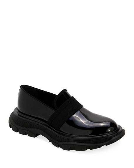 Alexander McQueen Men's Leather Thick Rubber Sole Dress Shoe
