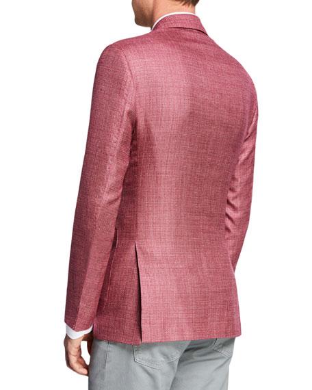 Kiton Men's Tic Cashmere/Linen Blazer