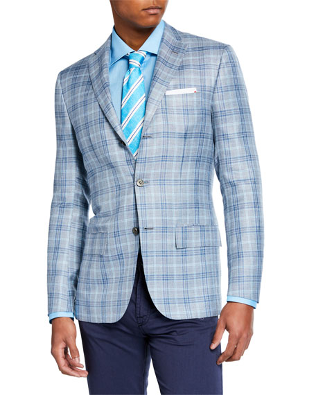Kiton Men's Plaid Sport Jacket