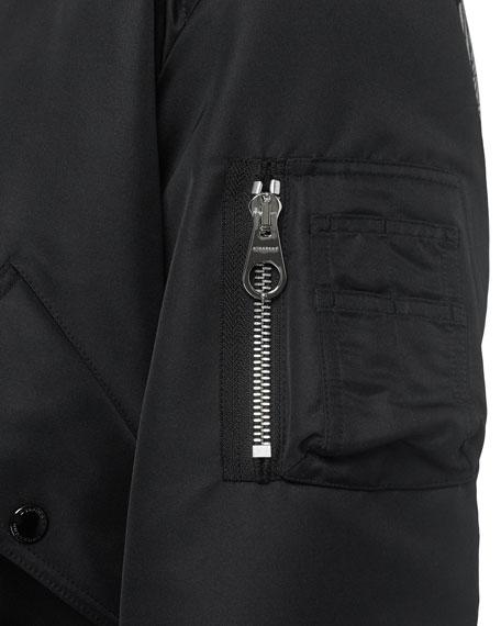 Burberry Men's Haughton Logo Graphic Bomber Jacket