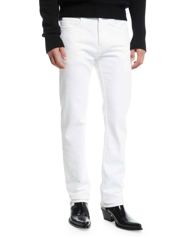 0f326a67 CALVIN KLEIN 205W39NYC Men's Straight-Leg Solid Denim Jeans | Neiman ...