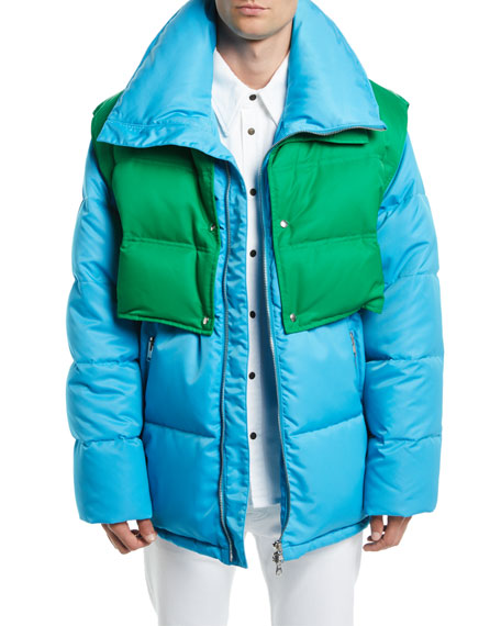 CALVIN KLEIN 205W39NYC Men's Puffer Coat with Removable Vest