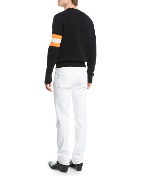 CALVIN KLEIN 205W39NYC Men's Sleeve-Striped Cashmere Sweater