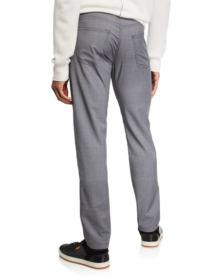 Image 2 of 3: Kiton Men's Natural Stretch Denim Jeans