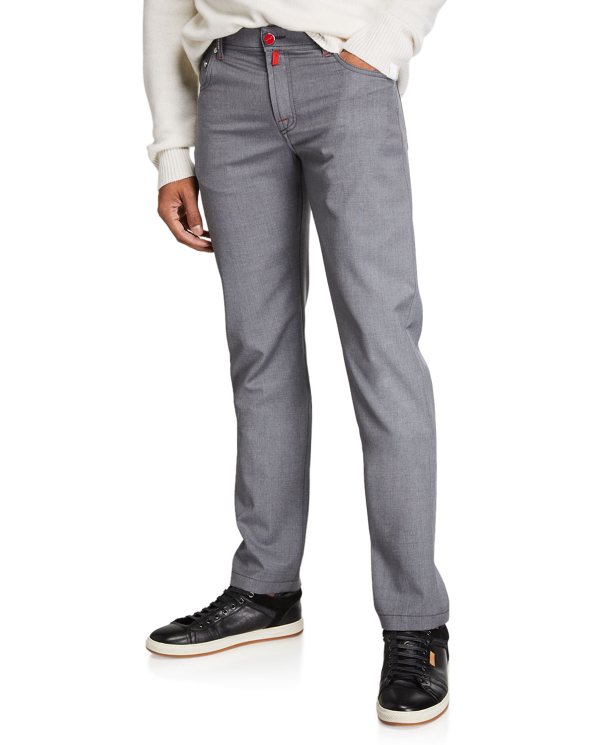 Kiton Men's Natural Stretch Denim Jeans