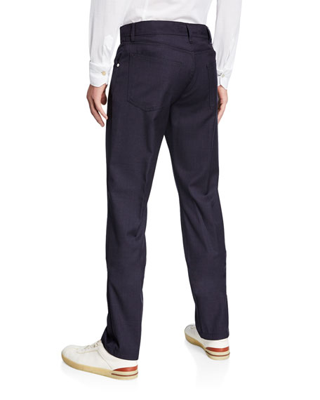 Kiton Men's 5-Pocket Wool Trousers