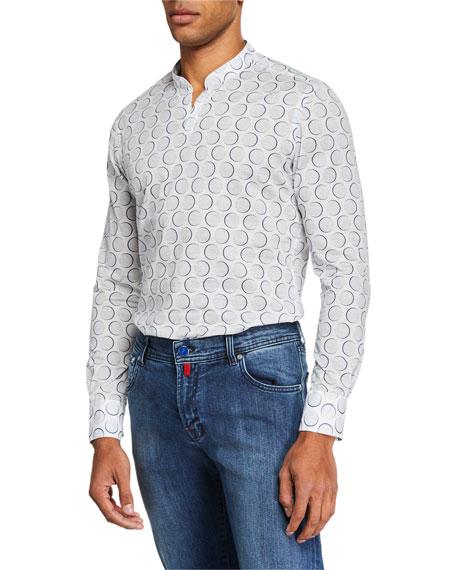 Kiton Men's Pomegranate Shirt