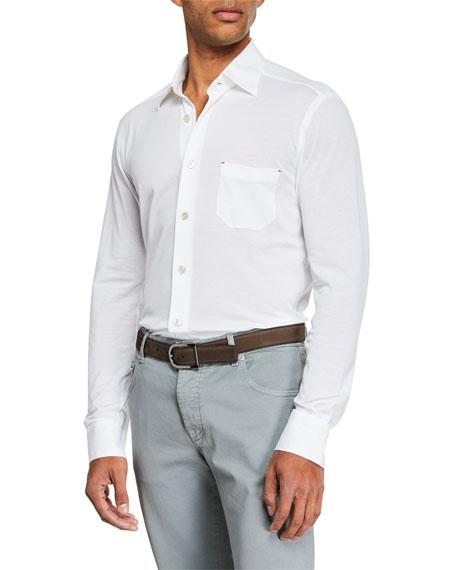 Kiton Men's Pique Sport Shirt