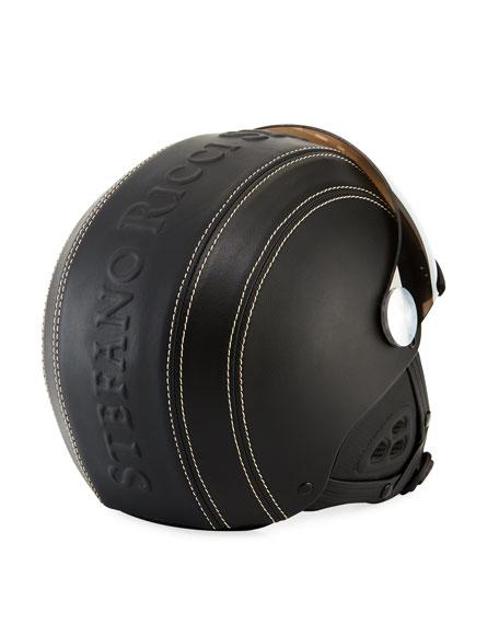 Stefano Ricci Classic Eagle Ski Helmet w/ Attached Mirrored Visor