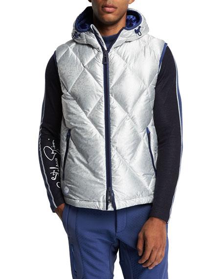 Stefano Ricci Men's Hooded Down Ski Vest