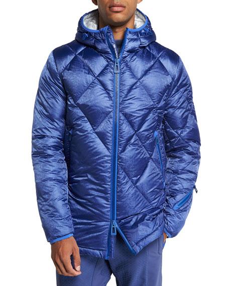 Stefano Ricci Men's Hooded Down Ski Jacket