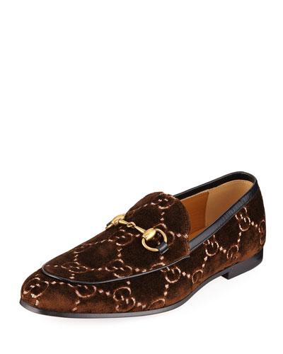 Men's Interlocking-GG Velvet Loafer