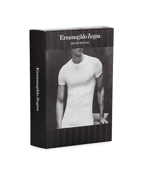 Ermenegildo Zegna Men's Micromodal Round-Neck T-Shirt