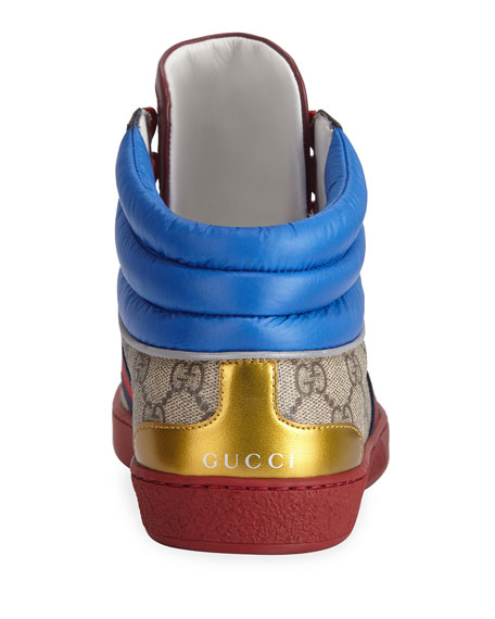 Gucci Men's Ace GG High-Top Sneakers