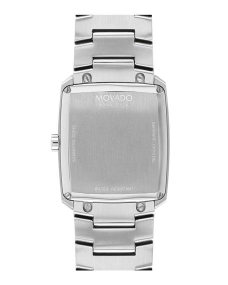 Movado Men's Eliro Square Modern Watch, Silver