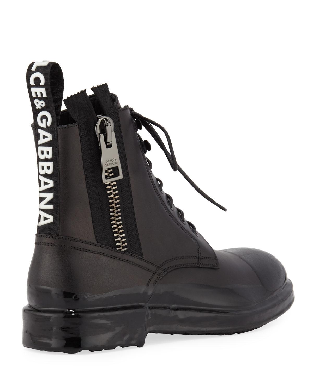 Dolce \u0026 Gabbana Men's Cap-Toe Leather