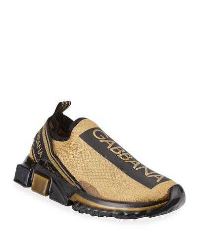 Men's Sorrento Logo Stripe Sneakers