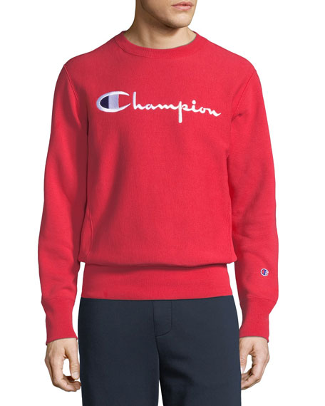 Champion Europe Men's Classic Script Logo Sweatshirt