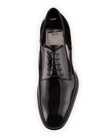 Giorgio Armani Men's Formal Patent Leather Derby Shoes