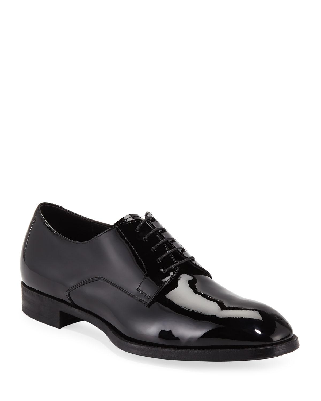 502f3432eb9 Giorgio Armani Men s Formal Patent Leather Derby Shoes