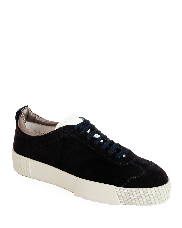 0c67ff289c Giorgio Armani Men s Suede Low-Top Sneakers