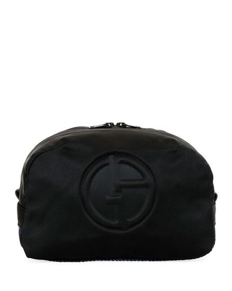 Giorgio Armani Men's Logo-Embossed Nylon Pouch
