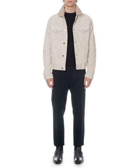 Berluti Men's Suede Button-Front Jacket