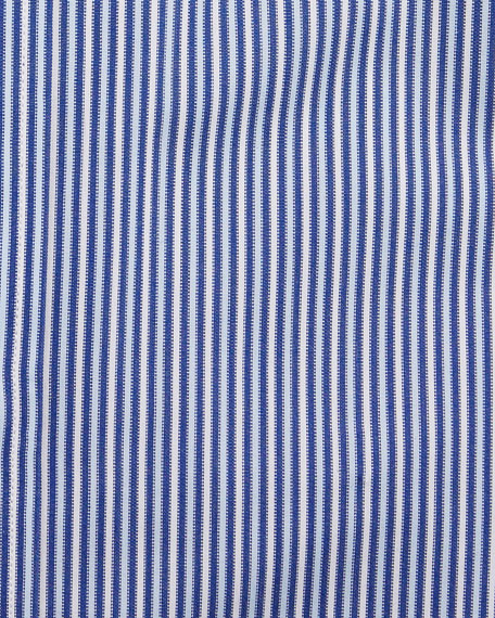 Image 2 of 2: Charvet Men's Vertical Stripe Dress Shirt, Navy