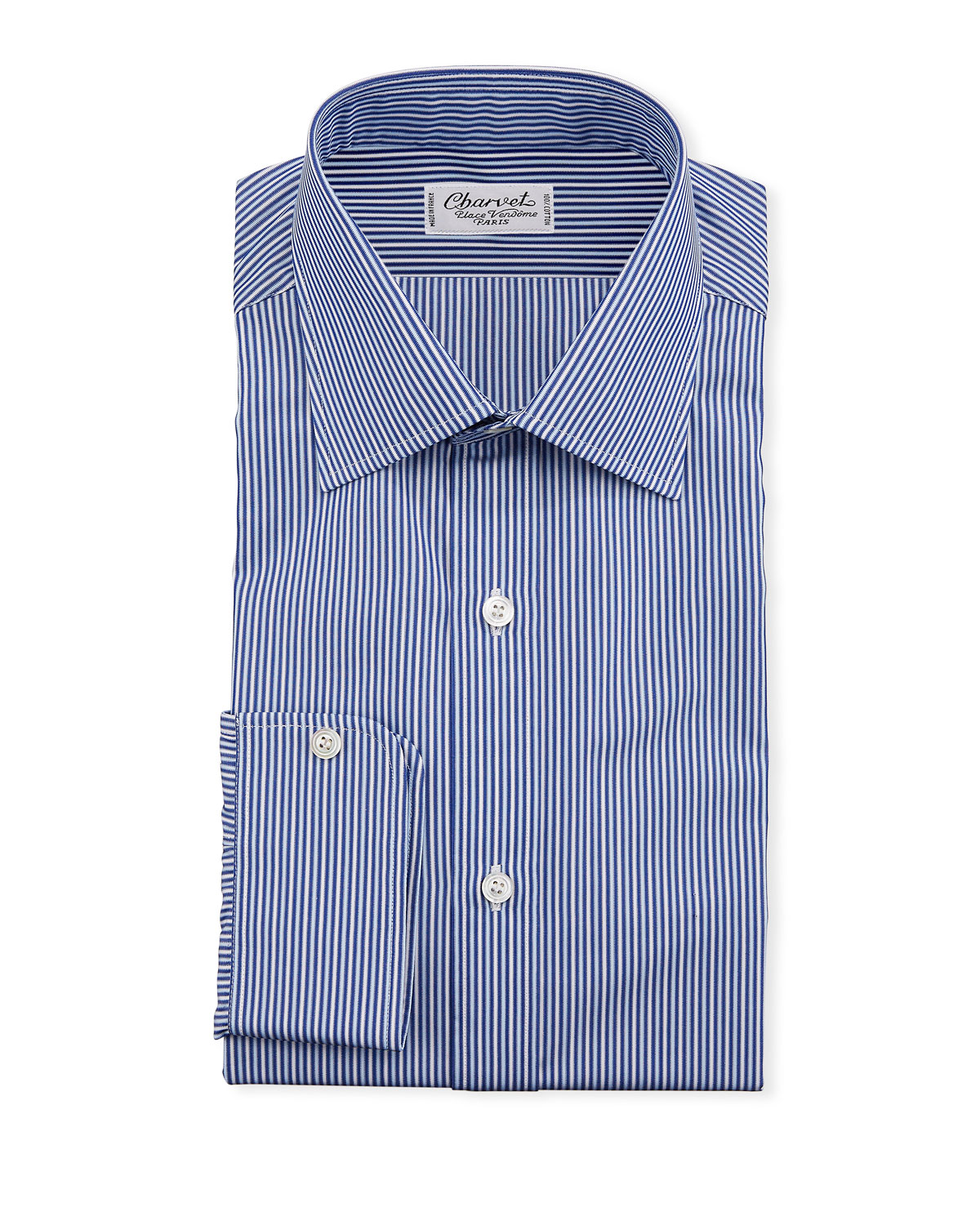 Charvet Men's Vertical Stripe Dress Shirt, Navy