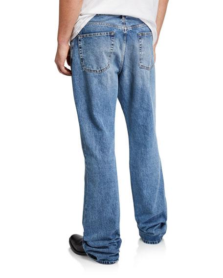 Balenciaga Men's Boot-Cut Light-Wash Denim Jeans
