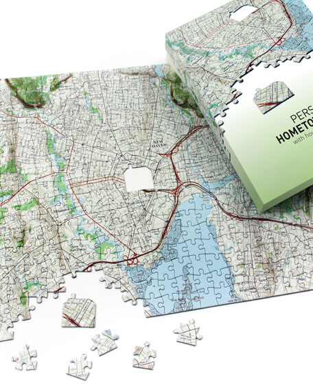 Map Marketing Personalized Hometown Map Puzzle