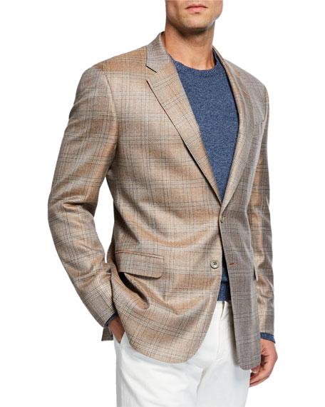 Giorgio Armani Men's Melange Plaid Sport Coat